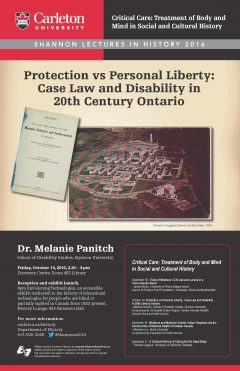 Shannon Lecture 2016 Poster for Melanie Panitch lecture
