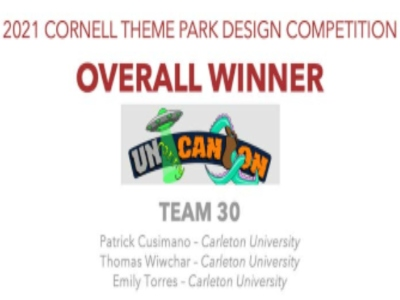 Photo for the news post: BID students win the 2021 Cornell Theme Park Design Competition