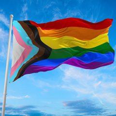 Progress flag representing BIPOC LGBTQ2S+