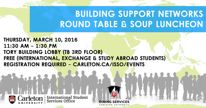Building support networks round table soup luncheon - International student services office ...