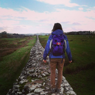 Photo of student on a path