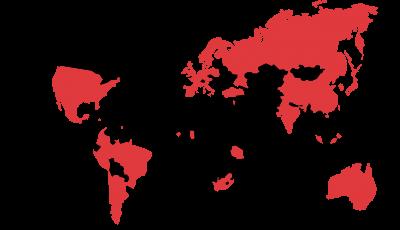 map of partner institutions