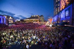 Image of concert goers