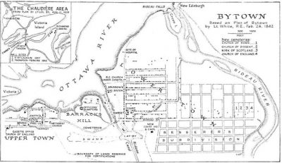 Old map of Bytown