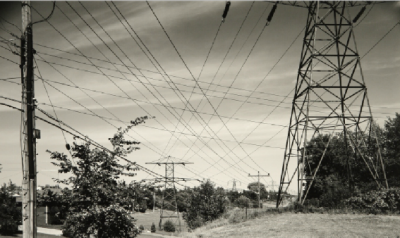 Picture of field with electrical tower