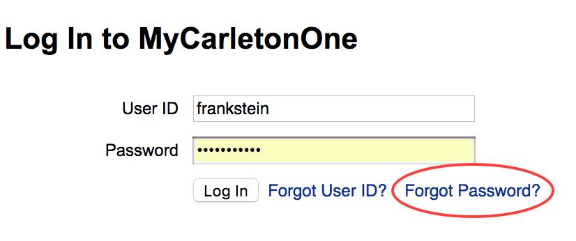 expired password screenshot