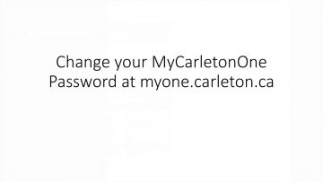 Thumbnail for: Updating your MyCarletonOne password on a Blackberry