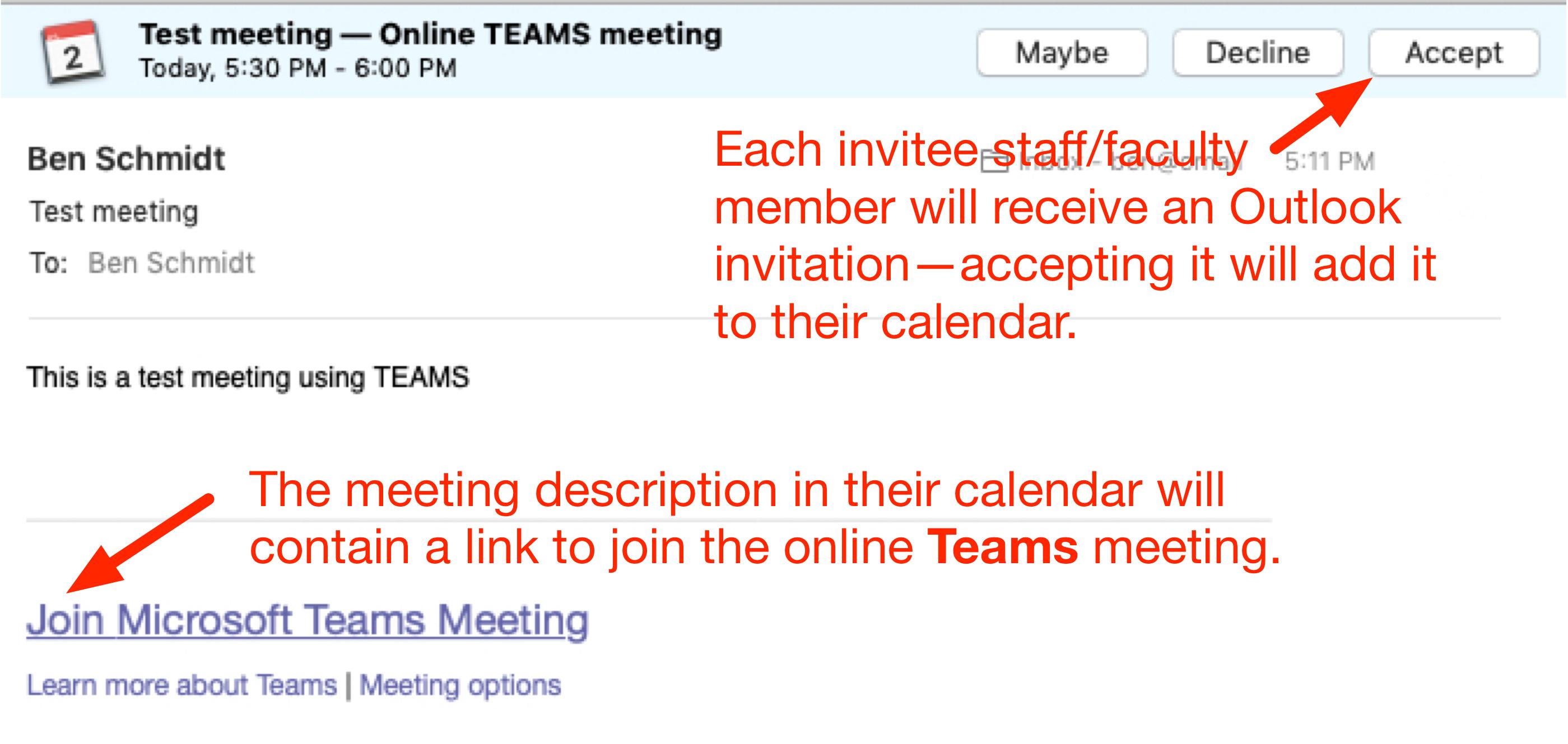 Using Teams - online meetings - Teams