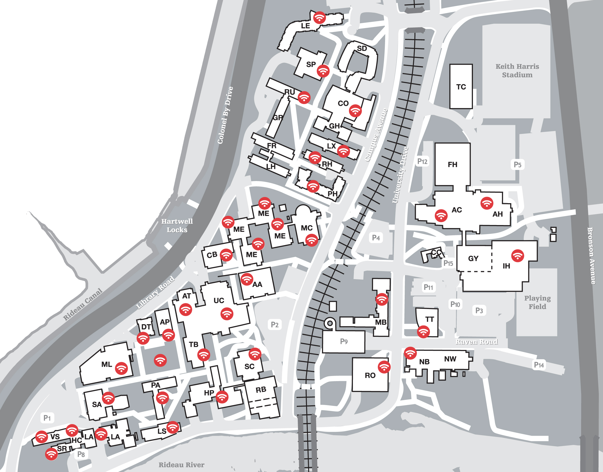 Wireless Coverage on Campus
