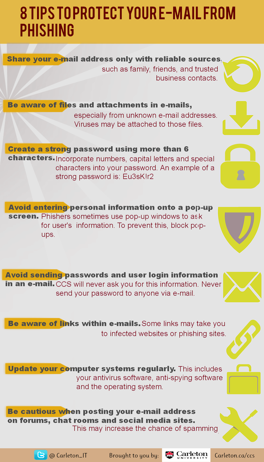 8 Tips To Protect Your Email From Phishing Infographic
