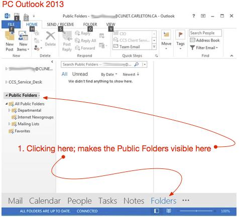 public folders outlook 2013d