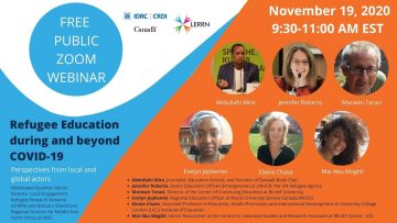 Thumbnail for: LERRN-IDRC Webinar | Refugee Education during and beyond Covid-19