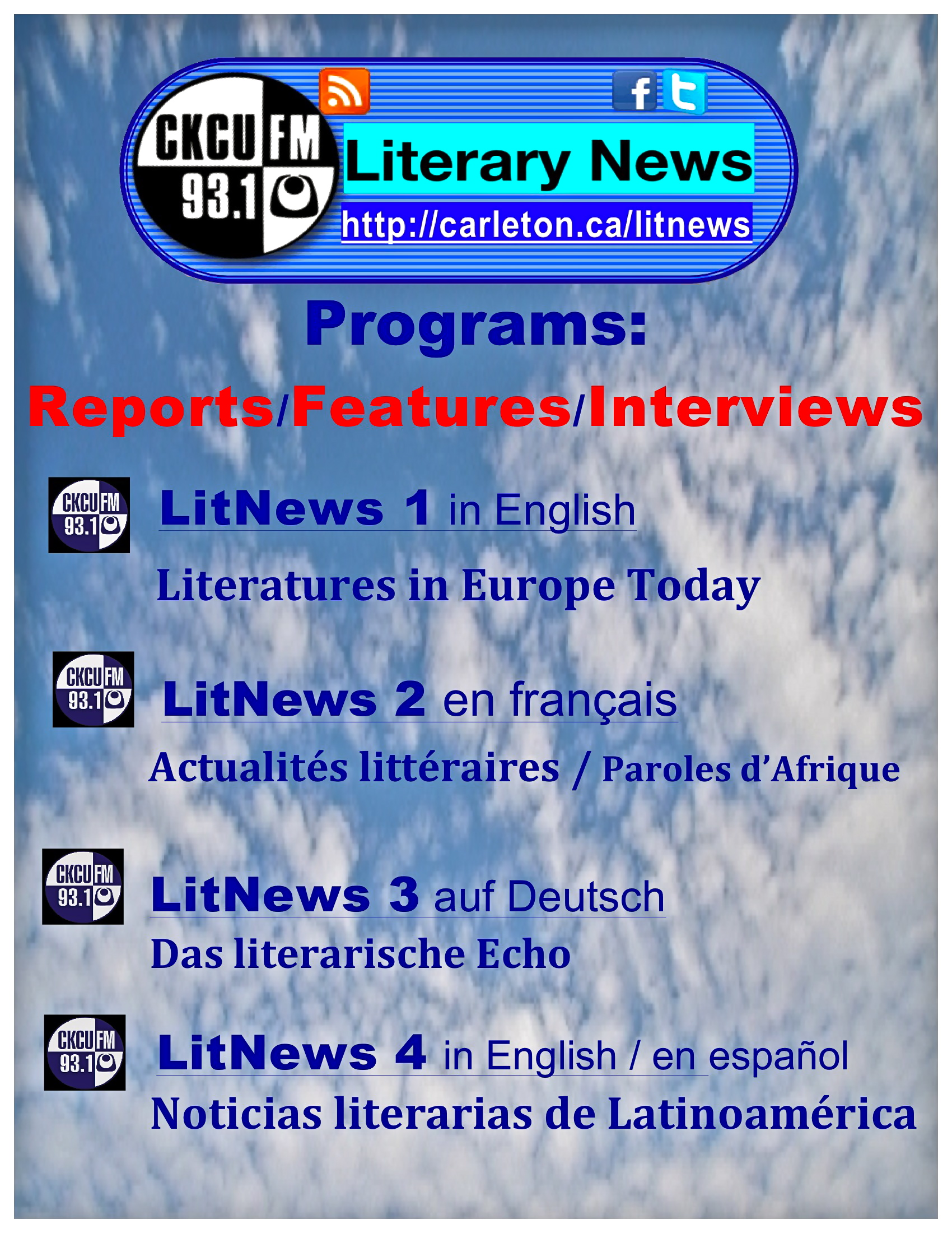 CKCU Literary News Programs