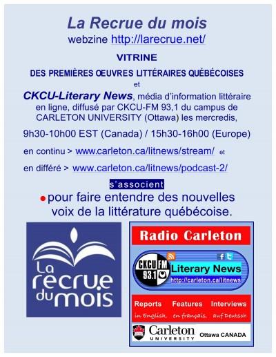 La Recrue du mois / CKCU/Literary News