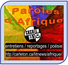 CKCU-Literary News: Paroles d'Afrique