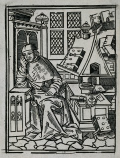 Andrew Boorde. Reproduction of woodcut.