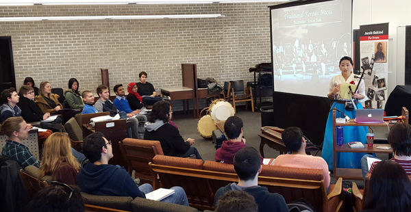 Traditional Music of Korea lecture and performance photo