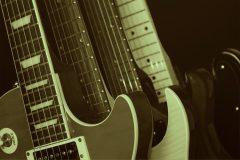 image of guitars