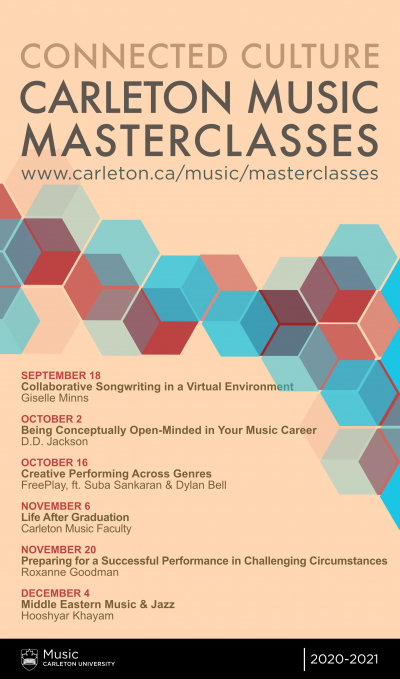 Poster for the Connected Virtual Masterclass series in Fall 2020