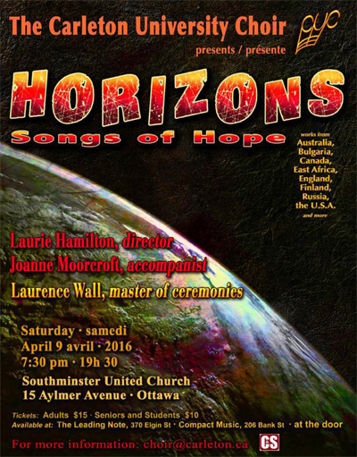 Horizons concert poster