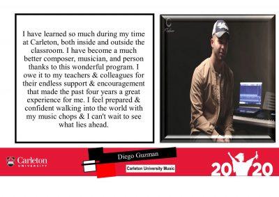 Diego Guzman, Grad photo, 2020, Convocation