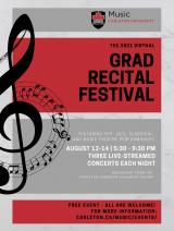 2021 Grad Recital Festival Poster