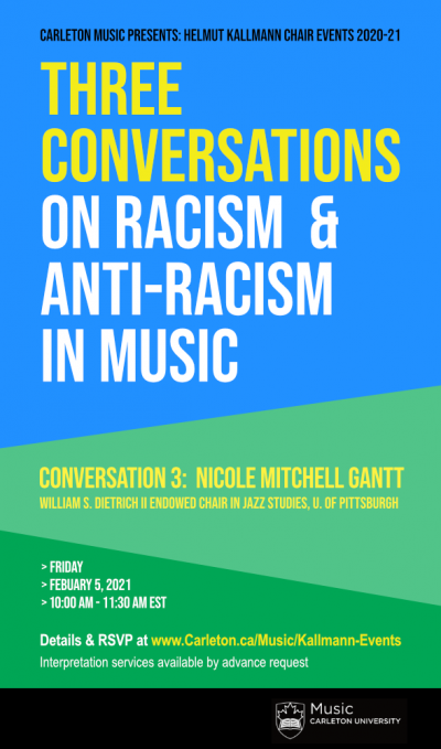 Poster: Three Conversations on Racism & Anti-Racism in Music