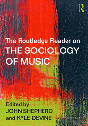 Routledge Sociology of Music cover image