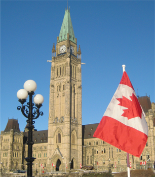 photo of the Peace Tower, Parliament Hill, Ottawa, Canada