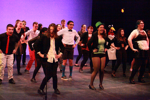 Scene from Music theatre performance 2014-15