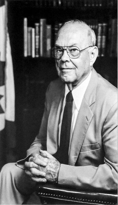A black and white photo of William H Barton