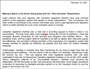 """37 of Canada's charity lawyers strongly agree that the Canada Revenue Agency should remove the paternalistic, colonial requirement that charities have """"direction and control"""" over their own activities."""