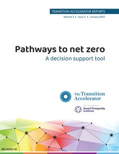 Pathways to net zero, A decision support tool