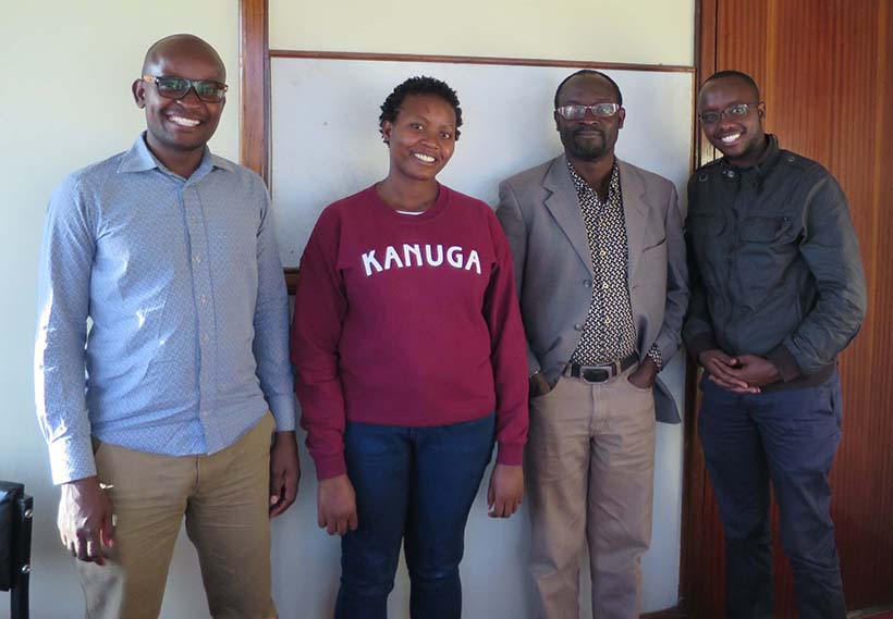 students in the MA in Forced Migration at Moi University, with Dulo Nyaoro, Lead of LERRN's Kenya Working Group