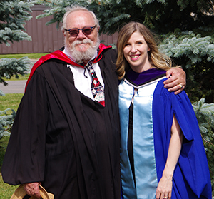 Janice Freamo and Prof. Tom Darby
