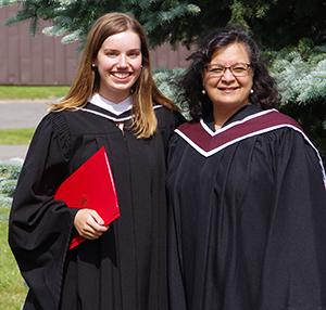 Laura Green and supervisor Vandna Bhatia