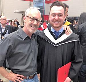 Matthew Healy and supervisor Randall Germain