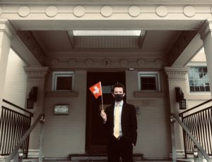 photo Max, first day of work at the Swiss Embassy in Ottawa