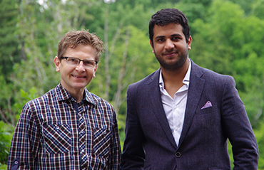 Micaal Ahmed and supervisor Hans-Martin Jaeger
