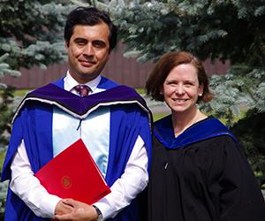 Said Yaqub Ibrahimi and Prof. Elinor Sloan