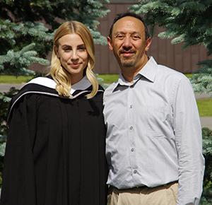 Sarah Painchaud and supervisor Jeff Sahadeo