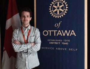 photo of Max at the Rotary Club