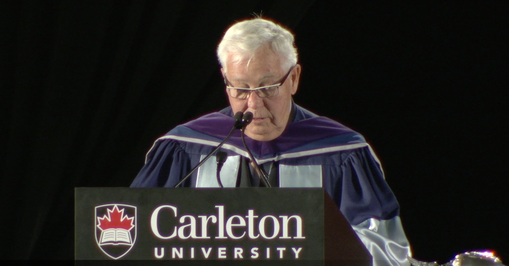 Clayton H. Riddell in 2014, upon received an honorary doctor of laws from Carleton University
