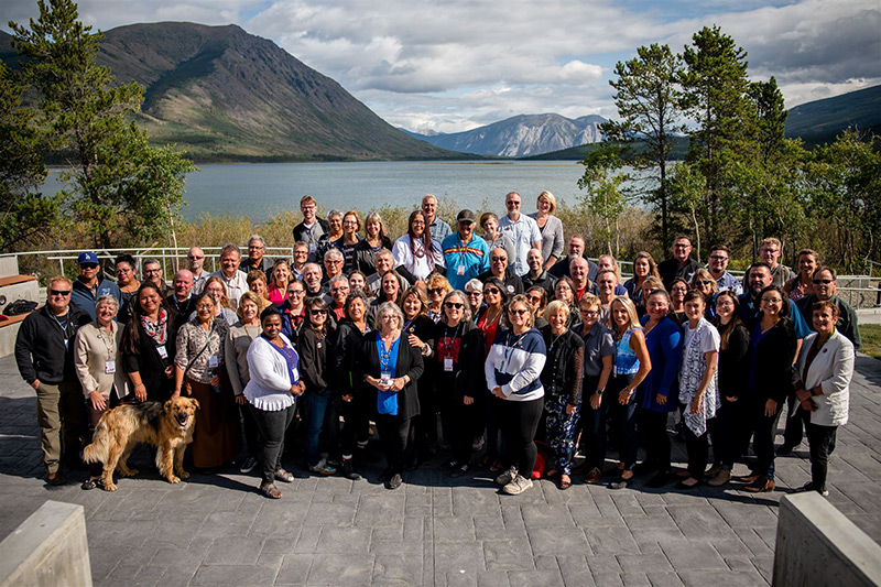 Pictured are participants of Perspectives on Reconciliation: A Summer Institute in Yukon, including Benoit-Antoine Bacon and Benny Michaud from Carleton.
