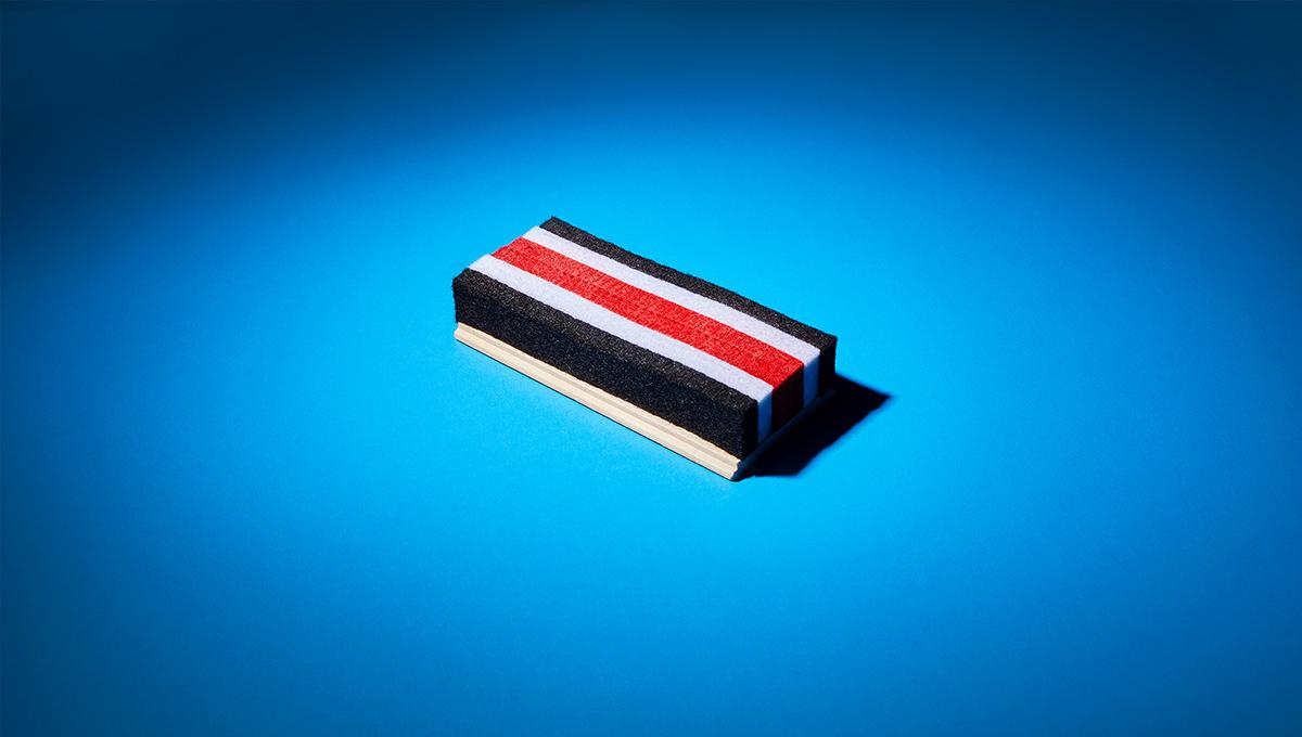 A chalkboard eraser