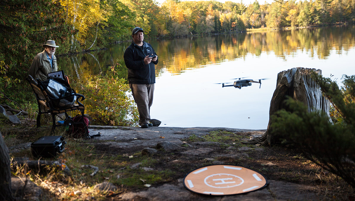 Carleton engineering and biology professors and students collaborate to use drones and 3D-printed birds to test fly a new approach to wildlife conservation.