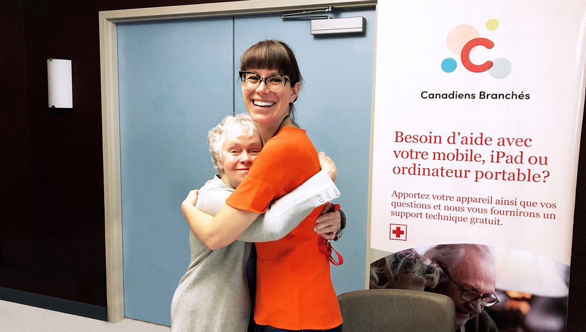 Connected Canadians client Marie with co-founder Emily Jones Joanisse