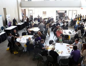 Networking at Enable 2019, Richcraft Hall, Carleton University