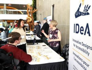 Enable 2019 guests visiting table hosted by Innovative Designs for Accessibility