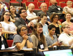 Enable Ottawa 2019 audience members in the Theatre of Richcraft Hall, at Carleton University